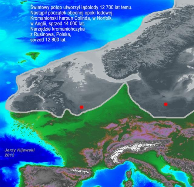 Światowy Potop utworzył lądolody 12 700 lat temu.