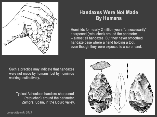 Hand Axes Were Not Made By Humans.